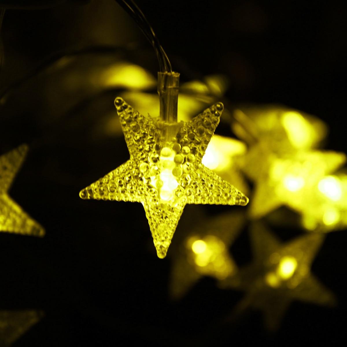 1,5/3 M Led Stern String Lichter Led Lichterkette Weihnachten Hochzeit Vorhang String Dekoration Lichter Batterie Bedienen Twinkle Lichter Duftendes (In) Aroma