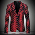 Men`s Fashion Jacket Full Sleeve Notched Collar Slim Fit Dress Business Suit Coat M-3XL 4XL red gray #k8611