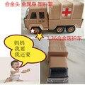 Candice guo mini plástico de aleación modelo de coche 1:36 motor juguete battlefield Ambulancia vehículo colección bebé regalo de navidad para niños