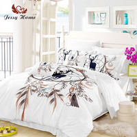 dream catcher Bedding Set Deer Duvet Animal Reindeer Bed Cover Set King Sizes Home Textiles 3pcs Luxury US/AU/RU Size M945