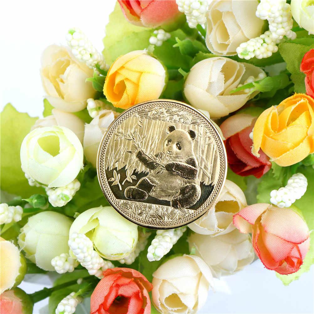 Большая панда Baobao памятная невалютная коллекция монет арт-подарки оптом золотой цвет