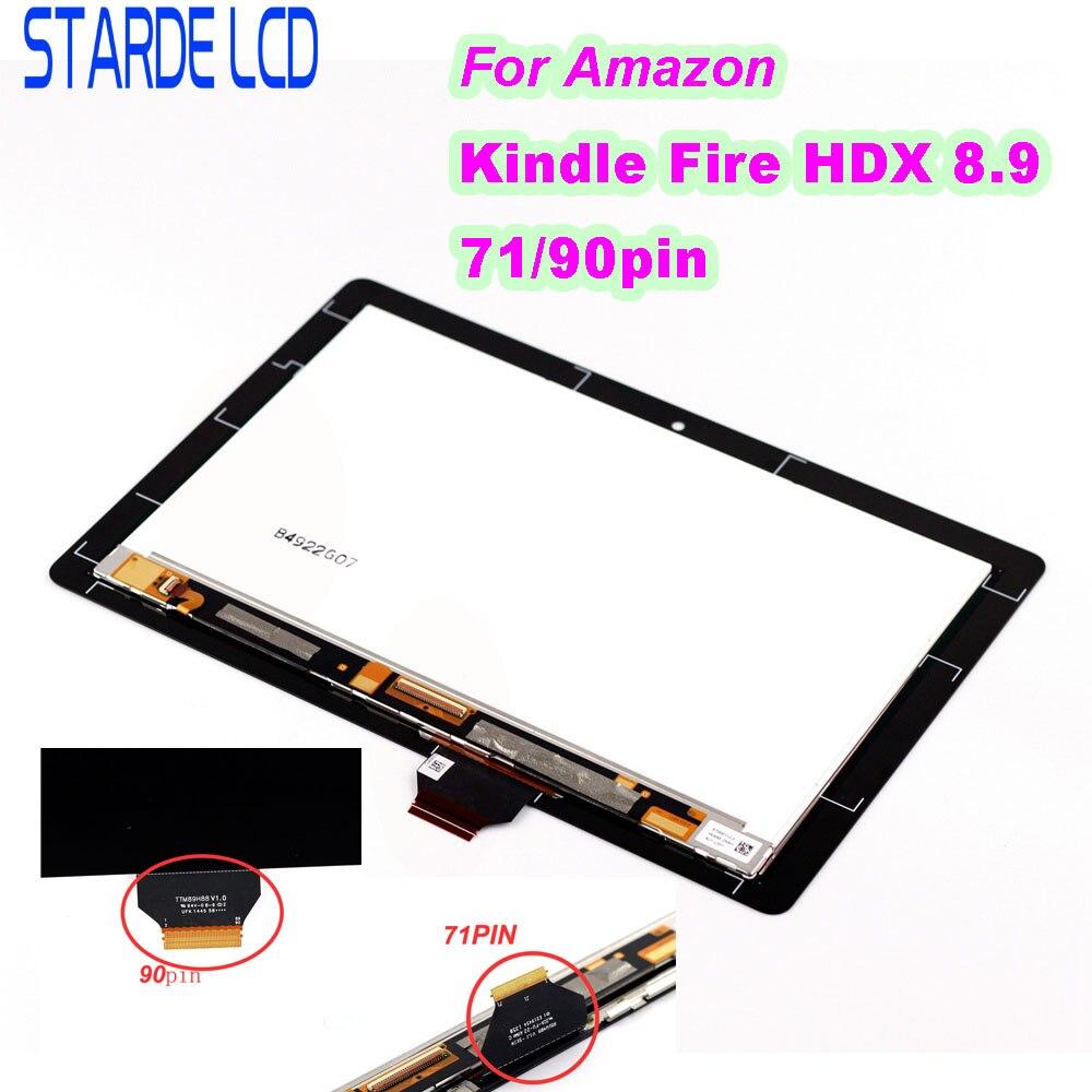 STARDE remplacement LCD pour Amazon Kindle Fire HDX8.9 HDX 8.9 71pin 90 broches LCD écran tactile numériseur assemblée