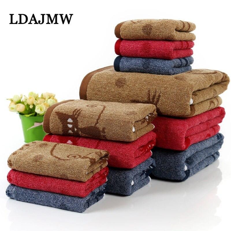 LDAJMW Baumwolle Saugfähigen Eltern-kind Handtuch Kinder Erwachsene Haushalt Kombination Set Vier-stück Geschenk Platz Handtuch Bad Handtuch