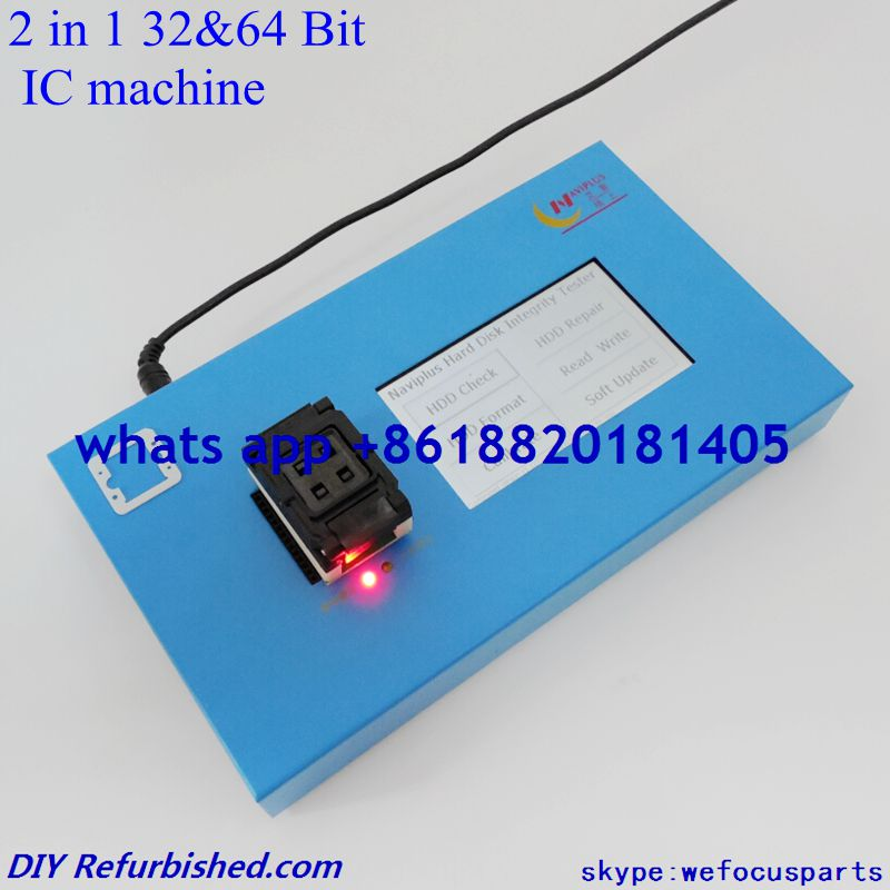 2 in 1 32&64 Bit Nand Flash IC Programmer Machine HDD Mainboard Repair Serial Number SN For iPhone 4 4S 5 5C 5S 6 6P for IPAD