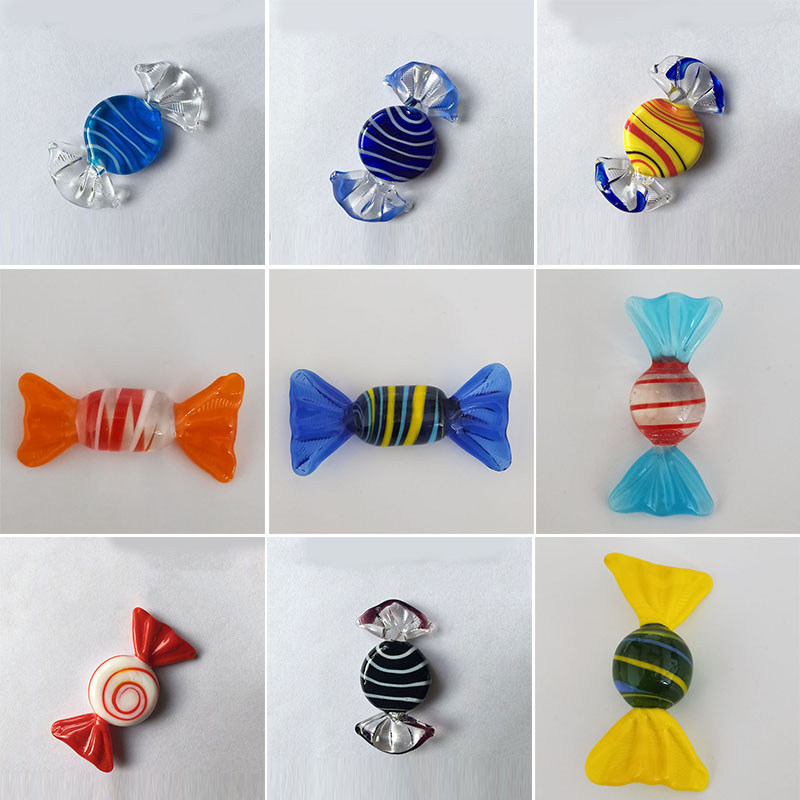 Ornament Figurines Crafts Christmas-Decoration Gift Glass Sweets Candy Wedding-Party