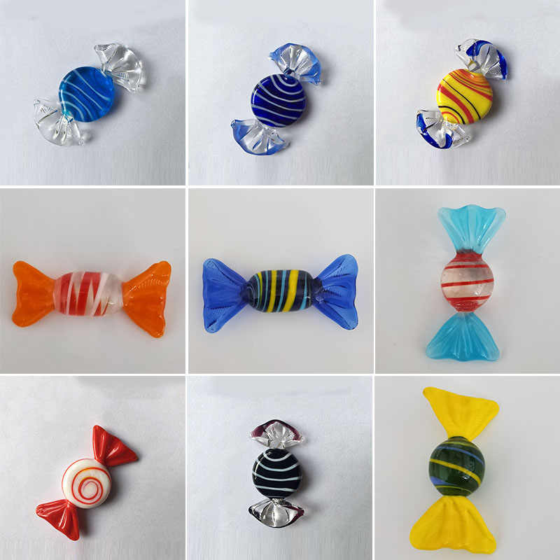 Vintage Murano Glass Sweets Figurines Crafts Wedding Party Candy Christmas Decoration DIY Ornament Kids Gift