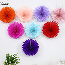 14inch 35cm Cheap Paper Fans For Wedding Tissue Paper Fans Flowers Birthday Party Holiday