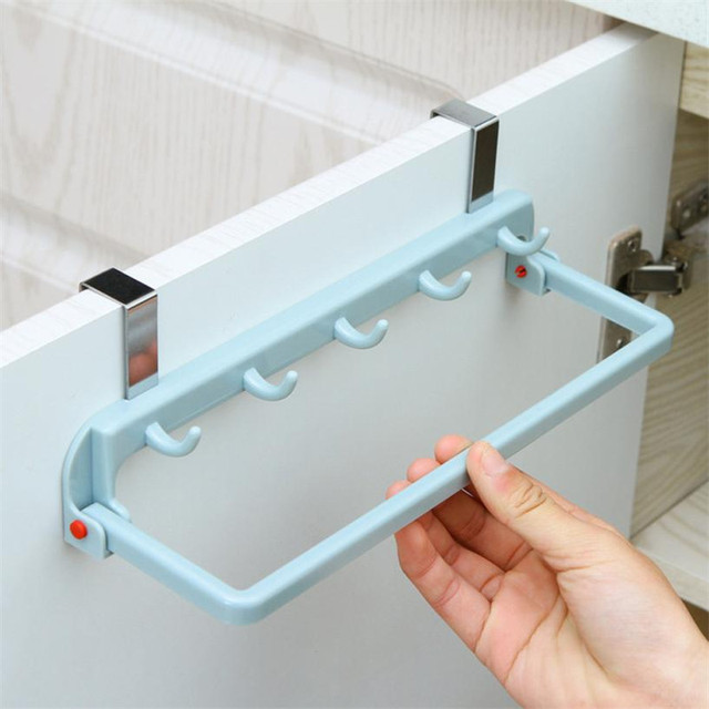 Multi function Hanging Kitchen Cabinet Door rack holder hook set foldable hook shelf tower hanging with & Multi function Hanging Kitchen Cabinet Door rack holder hook set ...