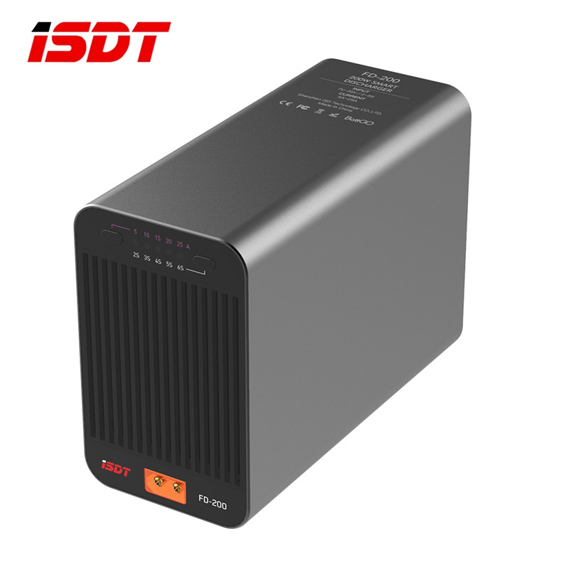 ISDT FD-200 200 W 25A Support 2-8 S Lipo batterie sans fil APP contrôle déchargeur pour RC Drone pièces de rechange RC minuscule cadeau présent jouet