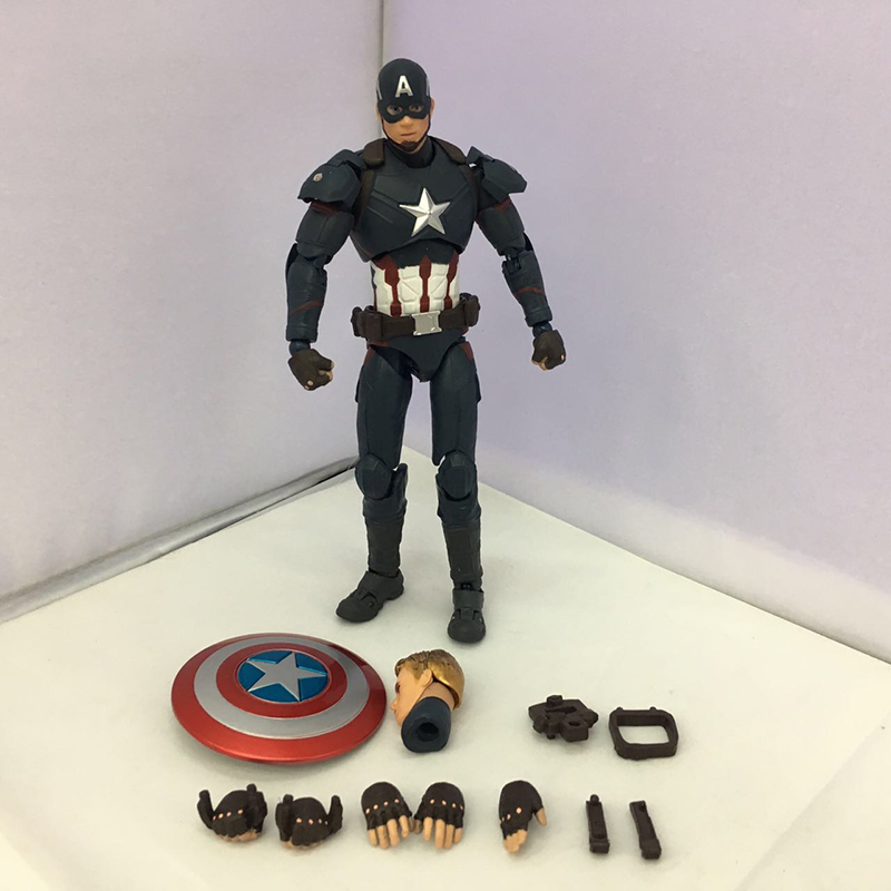 C&F Captain America Anime Action Figure Toys Superhero Steven Rogers/Steve  Rogers Collectible PVC Figures Toys For Boys Gifts anime cartoon doraemon cosplay iron man captain america pvc action figure collectible toy
