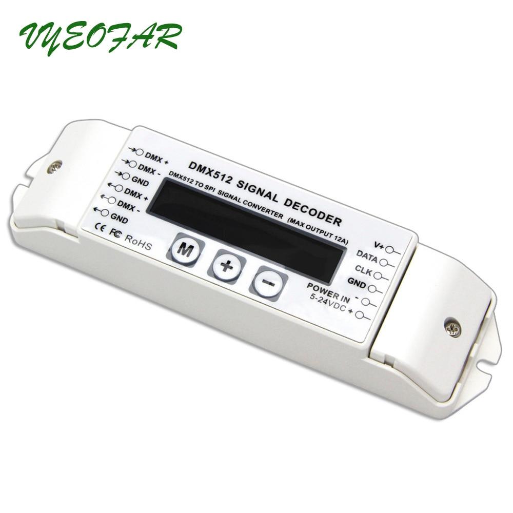 BC-820 DMX-SPI Décodeur; DMX à SPI DMX512 Décodeur contrôle LPD6803 LPD8806 WS2811 WS2801 SK6812 UCS1903/9813 WS2812B pixel