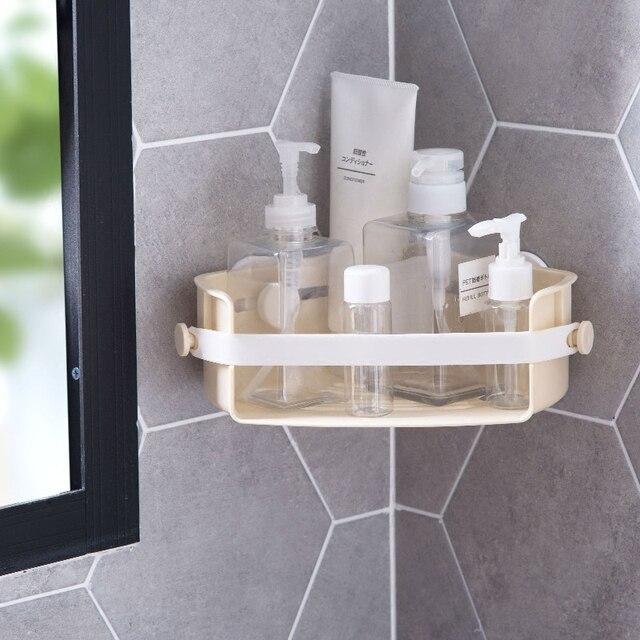 mur rack de stockage vidange fuite tagre salle de bains coin cadre en plastique trpied ventouse - Cadre Salle De Bain