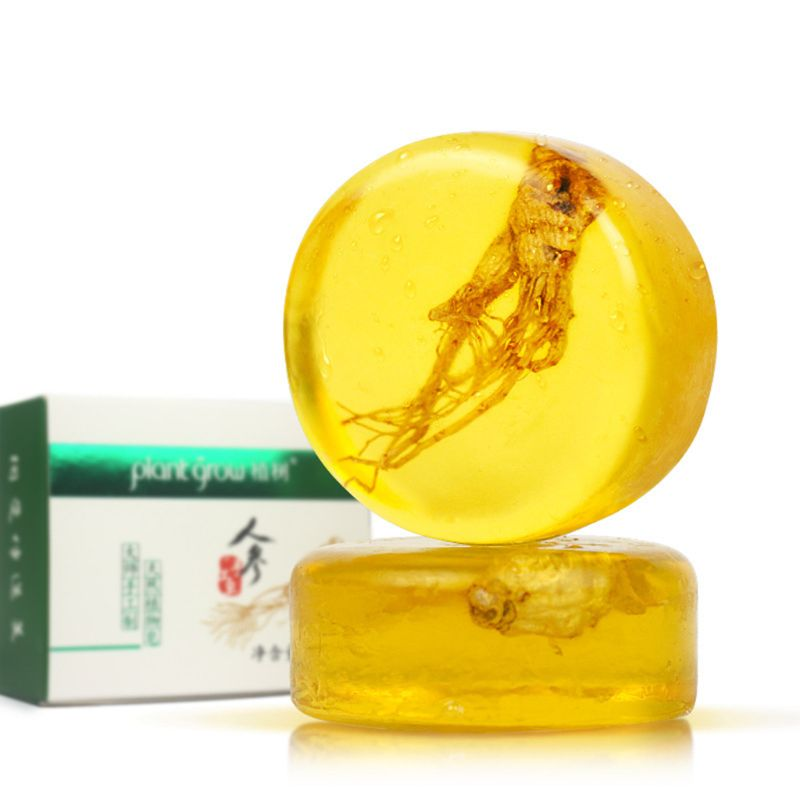 100g Natural Ginseng Extract Essential Oil Handmade Soap Oil Control Revitalizing Skin Care Cleansing Moisturizing Refreshing