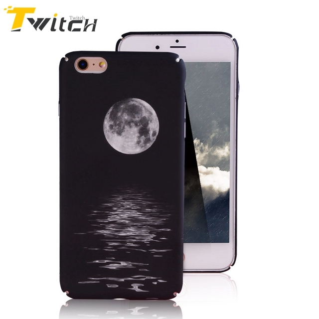 Twitch Romantic Moon Sky Patterned Phone Case For Apple Iphone 6 6s