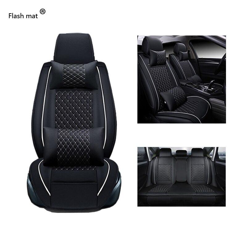 Couvre-siège de voiture universel en cuir pour Mercedes Benz W203 W210 W211 AMG W204 C E S CLS CLK CLA SLK A20