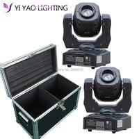 Flight Case Eyourlife LED Inno Pocket Spot Mini Moving Head Light 60W DMX dj 7 gobos effect stage lights 2pcs/lot