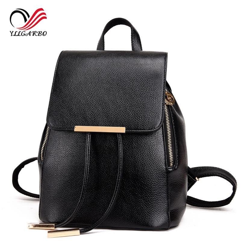 ФОТО Women Backpack High Quality Genuine Leather Mochila Escolar School Bags For Teenagers Girls Fashion Daily Luxury Designer