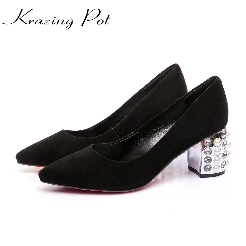 Krazing Pot sheep suede gladiator European plus size brand shoes pointed toe slip on crystal high heels office lady pumps L78 krazing pot empty after shallow shoes woman lace work flats pointed toe slip on sheep suede causal summer outside slippers l16