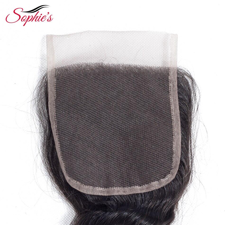 Sophie's Hair Brazilian Mänskligt Hår 4 * 4 Snörning Lös Wave - Skönhet och hälsa - Foto 3