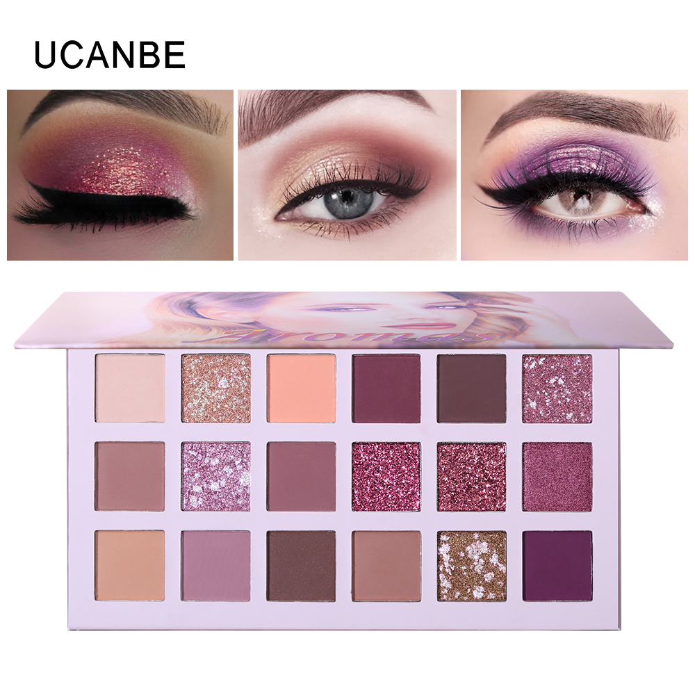 Ucanbe Nude Palette Aromas 18 Colors Matte Glitter Eyeshadow Natural Radiant Shine Eye Shadow Pigment Long Lasting Rose MakeupUcanbe Nude Palette Aromas 18 Colors Matte Glitter Eyeshadow Natural Radiant Shine Eye Shadow Pigment Long Lasting Rose Makeup