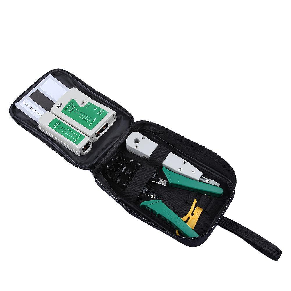 medium resolution of network ethernet cable tester rj45 kit rj45 crimper crimping tool punch down rj11 cat5 cat6 wire line detector in networking tools from computer office on