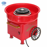 Mini DIY Sweet Cotton Candy Machine Electric Retro Cart For Children Girl Boy Gift 450 550W