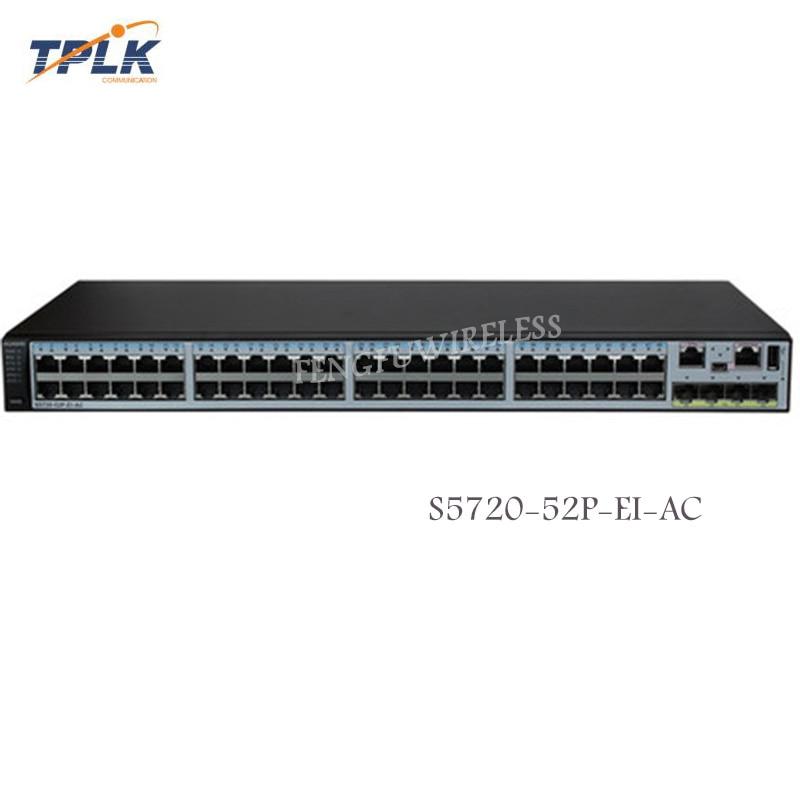4 Sfps Gigabit Fiber Optic Switch We Take Customers As Our Gods Considerate Hua Wei Original New S5720-52p-ei-ac Switch 48 Ports Ethernet 10/100/1000 Base-t Fiber Optic Equipments Communication Equipments