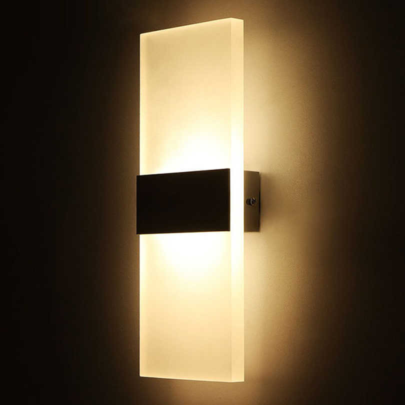 Modern Elegant Acrylic Led Wall Lamp AC85-265V Wall Mounted Sconce Lights lamp Bedroom Hallway Bathroom Fixture Decorative lamp