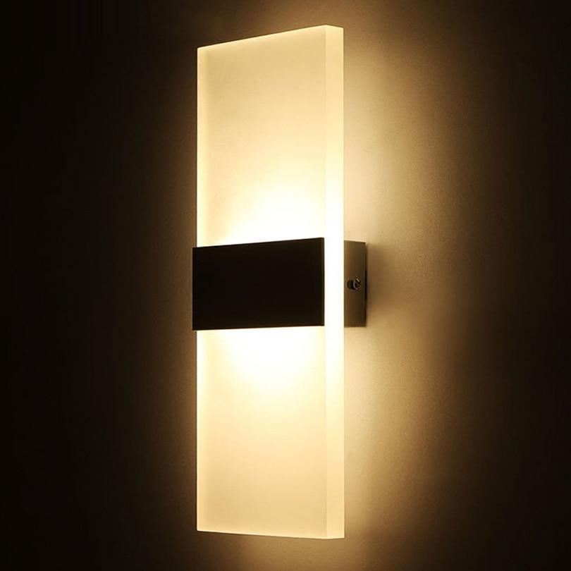 Modern Elegant Acrylic Led Wall Lamp AC85-265V Wall Mounted Sconce Lights Lamp Bedroom Hallway Bathroom Fixture Decorative Lamp