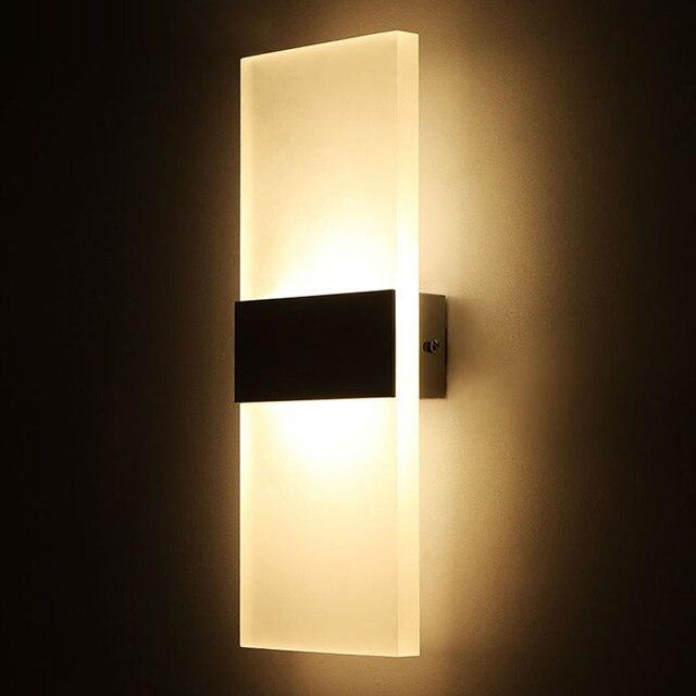 Modern Elegant Acrylic Led Wall Lamp Ac85 265v Wall Mounted Sconce