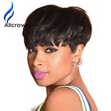 Short Bob Wigs For Black Women Silky Straight Full Lace Wig None Lace Wig Human Hair Full Lace Human Hair Wigs For Black Women