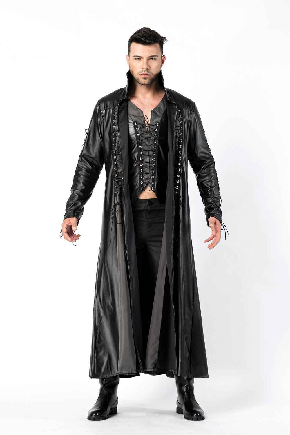 Adult Mens Dracula Costume Count Vampire Gothic Halloween Fancy Dress Outfit