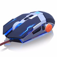 Adjustable weight Gaming Mouse DPI Wired Optical LED Computer Mice USB Cable game Mouse for laptop PC Professional gamer