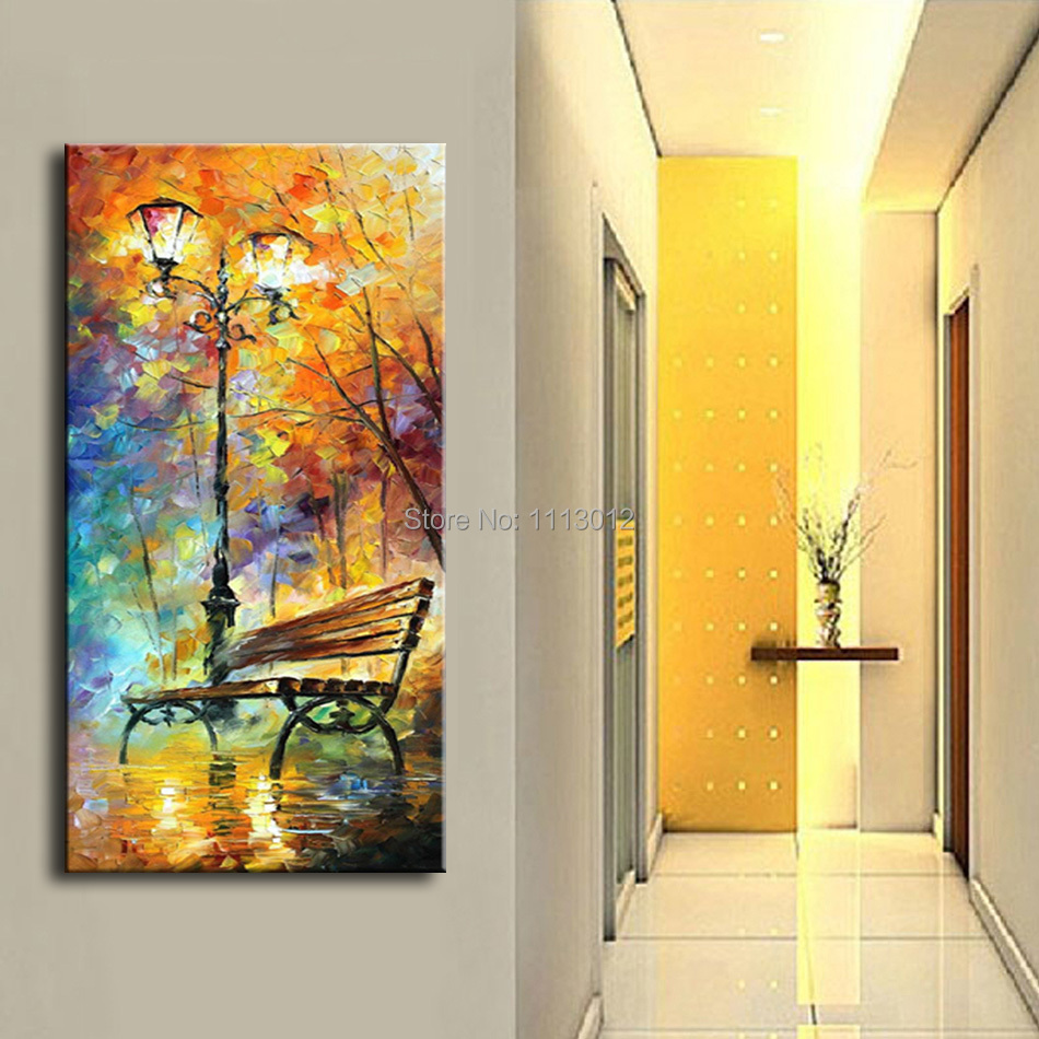 Large High Quality Handpainted Abstract Modern Wall Picture Rain ...