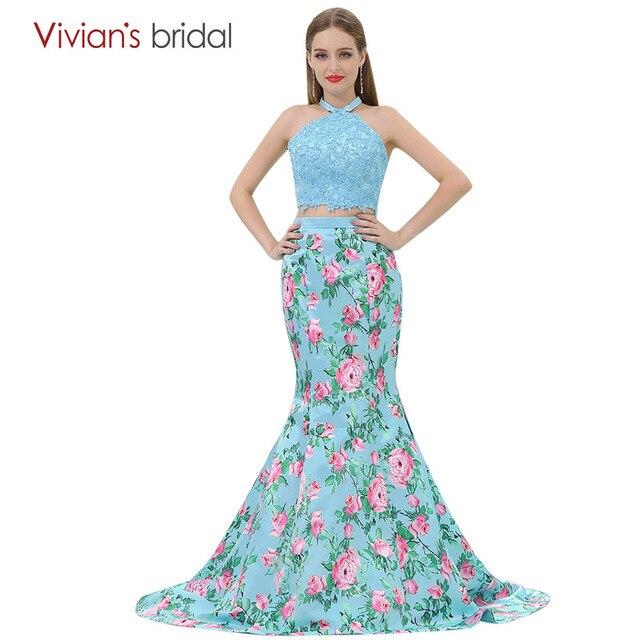 Vestido de festa Mermaid Abendkleid Blumendruck Vivian der Braut ...