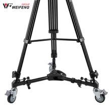 Weifeng WT 700 profesyonel kamera tripodu hızlı bırakma plakası tek kolu hidrolik Damper kafa takım işkembe