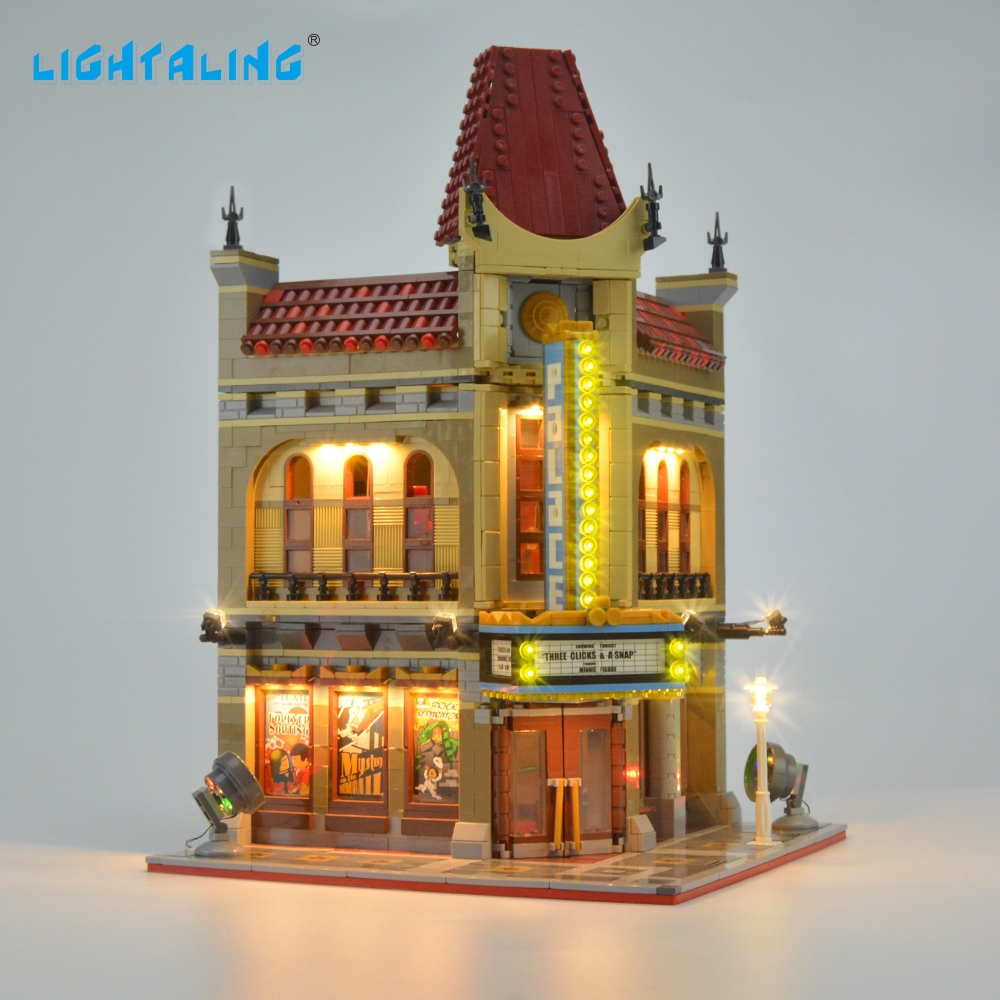 Lightaling LED Light Kit For Creator Palace Cinema Light Set  Compatible With  10232 And 15006 (NOT Include The Model)