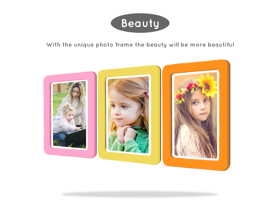 930_02 Colorful Magnetic Picture Frames Photo Fridge Magnets Photo frame Refrigerator Magnetic Photo Frames Wall Decor with EVA Surface