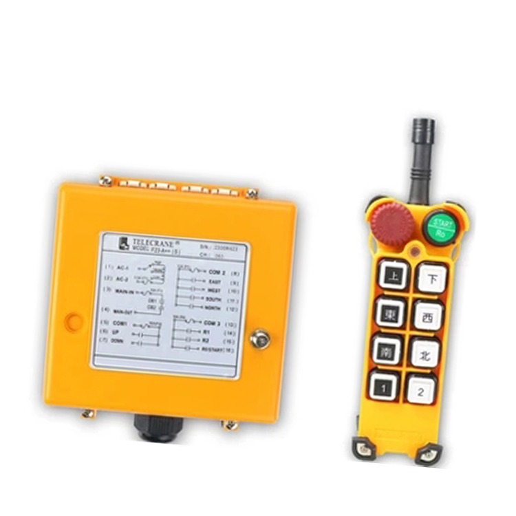 F23-A++(SS)(include 1 transmitter and 1 receiver)4 Channels1 Speed Hoist Industrial Wireless Remote Control Uting remote nice uting ce fcc industrial wireless radio double speed f21 4d remote control 1 transmitter 1 receiver for crane