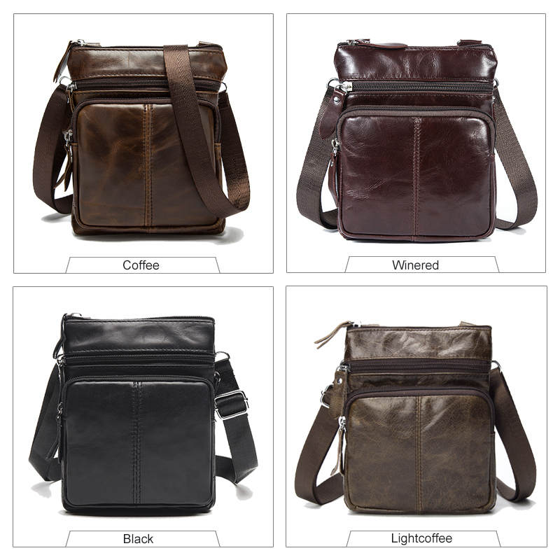 WESTAL Messenger Bag Men Shoulder bag Genuine Leather Small male man Crossbody bags for Messenger men Leather bags Handbags M701 3