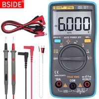 BSIDE Цифровой мультиметр ZT101 ZT102 True RMS мультиметр с автоматическим выбором диапазонов Вольтметр Амперметр температура емкости Ом Гц бесконта...