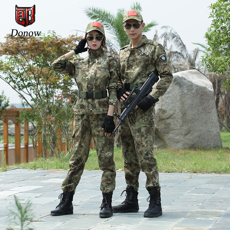Mens Tactical Training Sets Hunting Camouflage Clothing Military Uniform Python Patterned Army Combat Men Sport Hiking SuitsMens Tactical Training Sets Hunting Camouflage Clothing Military Uniform Python Patterned Army Combat Men Sport Hiking Suits