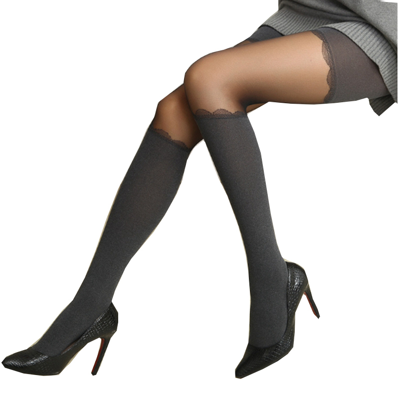 2018 Tights Women Spring Summer Style Sexy Heather Grey Personality Tight Tinted Sheer High Stocking Pantyhose Tights For Girls