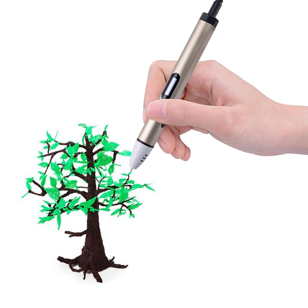 Smart 3D Printer Pen Aluminum Low Temperature Children 3D Printing Pen PCL Filament 3D Painting Drawing Pen Best Gift birthday gift new low temperature 3d pens with voice broadcast function 3d drawing pen with 5meter 10color pcl free shipping