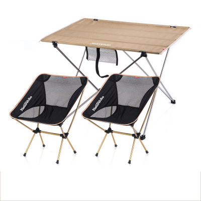 nh15z012s2 khaki large tablemoon fishing chair2 camoing table fishing leisure - Folding Table And Chairs