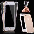 VOONGSON For iPhone 7 case silicon clear Soft TPU cover capa For iPhone 7 Plus case 360 Full Edge protection Phone case coque