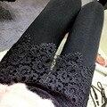 2017 новый женский сексуальный черный узелок леггинсы открыть батт панк клубная одежда мода готические брюки женские