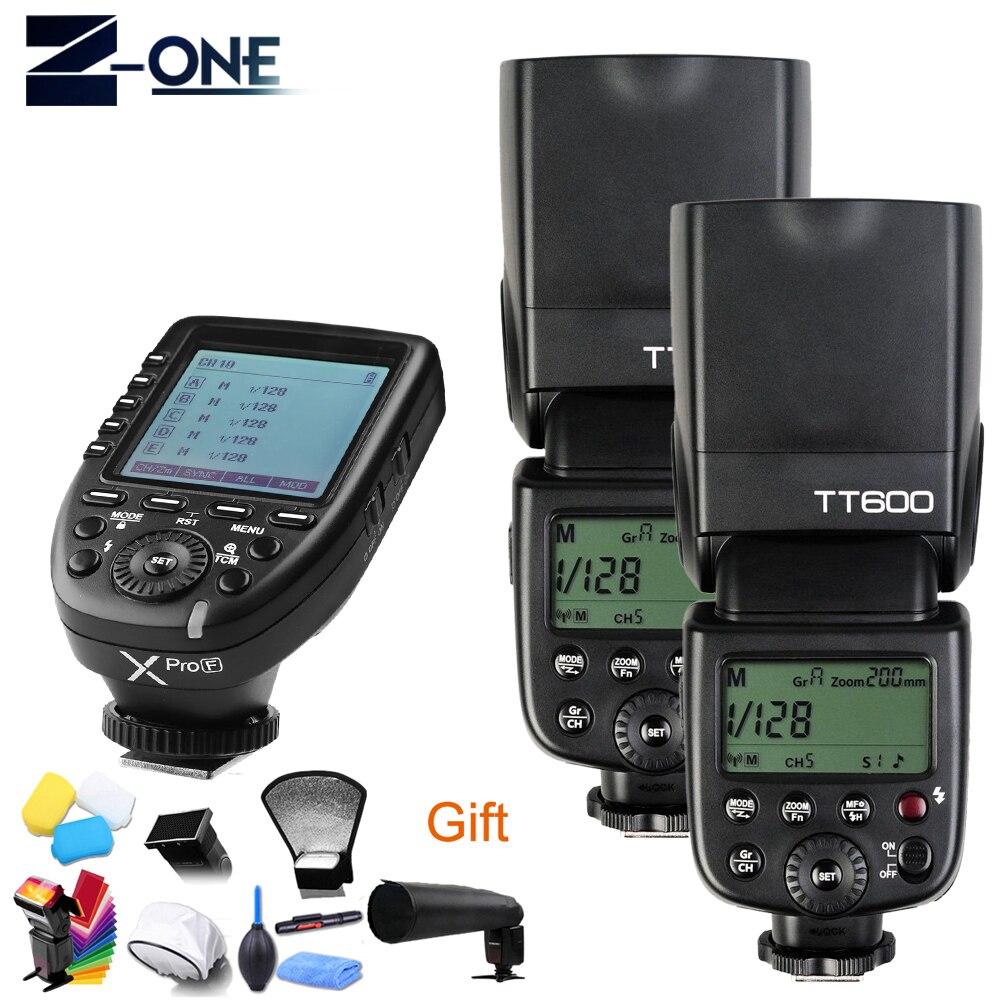 Godox TT600 GN60 HSS 1/8000s Camera Flash Speedlite+2.4G Wireless X System Xpro-F Transmitter For Fuji+Free Gift original 100 sheet fujifilm fuji instax mini white film instant photo paper for instax mini 8 70 25 camera sp 1 sp 2 free gift