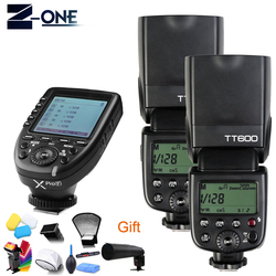 Godox TT600 GN60 HSS 1/8000s Camera Flash Speedlite+2.4G Wireless X System Xpro-F Transmitter For Fuji+Free Gift