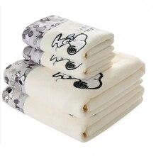 2 sztuk/zestaw dziecko Cartoon tkanina z mikrofibry drukuj ręcznik zestaw prezent 1 sztuk 70x140cm ręcznik plażowy 1 sztuk 34x76cm ręcznik do twarzy łazienka